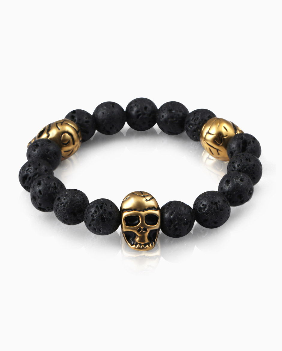 Health-jewelry-skull-beacelets-made-with-volcanic-lava-stone