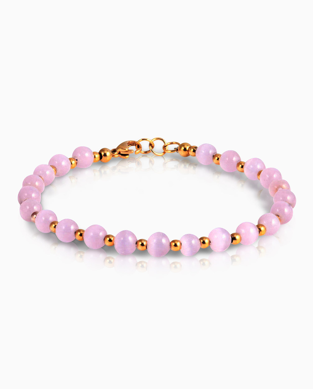 Pink-Stone-Bead-Bracelet-For-Women