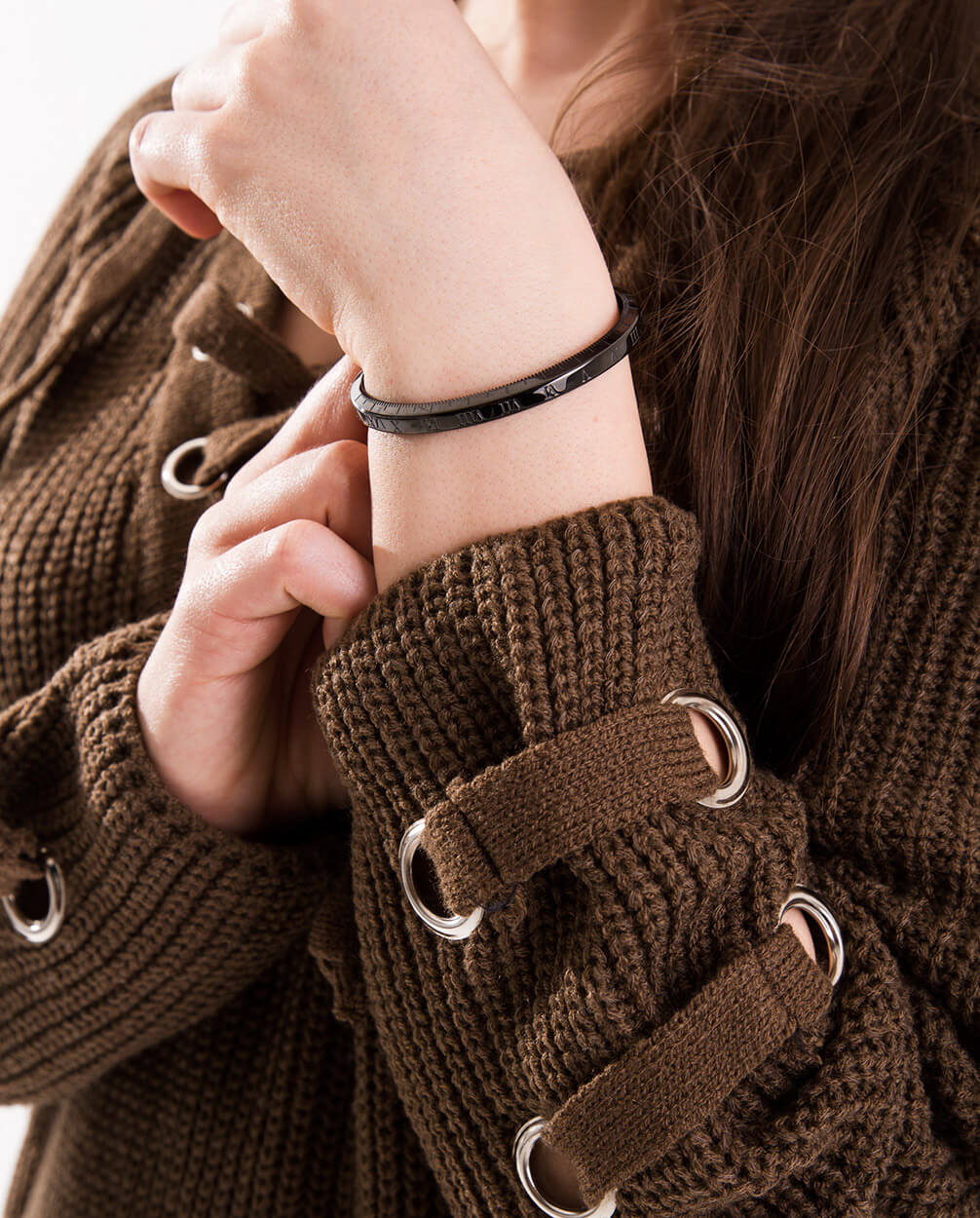 Azari-Black-Womens-Cuff-Bracelet