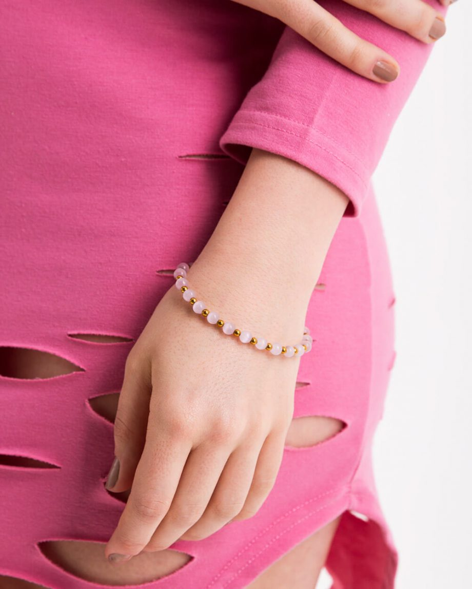 Azari-Pink-Cat-Eye-Natural-Gemstone-Bead-Bracelet