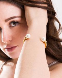 Azari-Womens-Gold-Plated-Pearl-Cuff-Bracelet-Jewelry