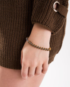 Azari-Wooden-Hematite-and-Stainless-Steel-Bracelet-For-Women