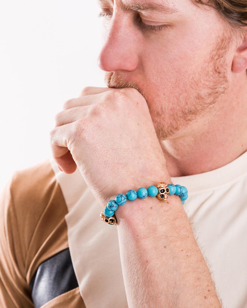 Turquoise-Stone-Beads-Charm-Bracelet-By-azari